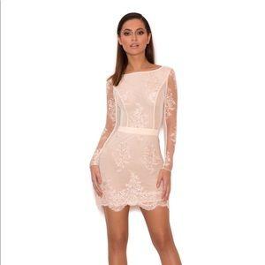 House of CB blush lace mini dress